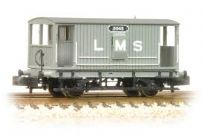 Graham Farish 377-750 Midland 20 Ton Brake Van LMS Grey